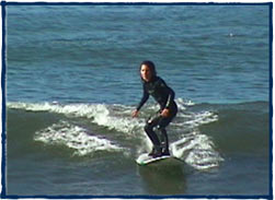 Surf lesson at Zuma Beach, Malibu, California. Surfing L.A. Surf School, the best way to learn how to surf in Los Angeles.